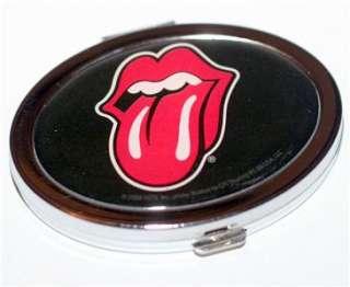 ROLLING STONES 60s Rock Tongue OVAL METAL HAND MIRROR