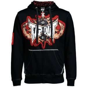 TapouT Black Electric Full Zip Hoody Sweatshirt Sports