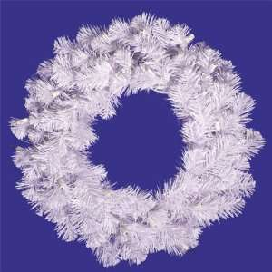 20 in. PVC Christmas Wreath   Crystal White   90 Tips