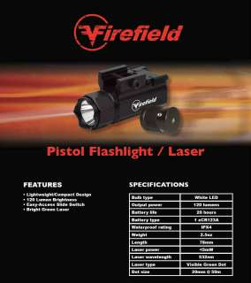 Firefield by Sightmark Tactical Light & Green Laser Combo