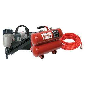 PORTER CABLE Clipped Head Framer / Oil Lubricated Compressor Combo Kit