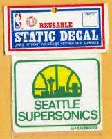 Vintage Old LOGO Seattle Supersonics Decal   UNSOLD and UNUSED   still