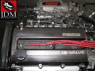 MAZDA 323 PROTEGE FAMILIA DOHC 1.8L TURBO ENGINE TRANS WIRING ECU JDM
