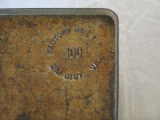 , GEORGE WASHINGTON TOBACCO TIN; HINGED LID; LUNCH BOX STYLE TIN; VG