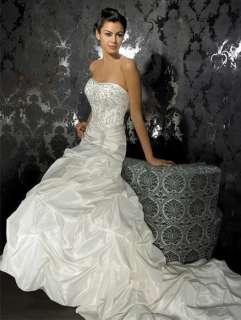 Noblest Elegant Satin Wedding Dress Bridal Gown New Hot custom made C