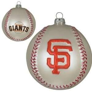 San Francisco Giants Mlb Glass Baseball Ornament (3