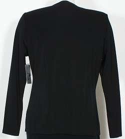NWT MISOOK Black Leopard Crochet Trim Jacket PL L