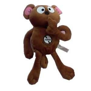 Brown Hush Plush Silent Dog Toy