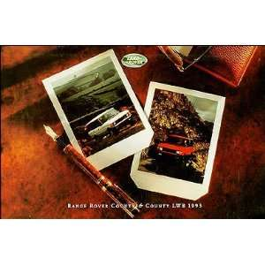 Rover Range Rover County & LWB Original Sales Catalog Land Rover