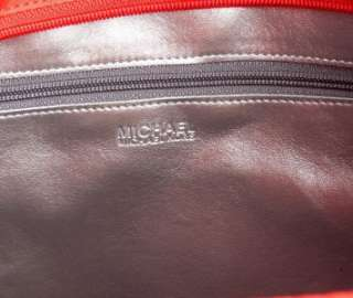 NWT Authentic MICHAEL KORS Back to School Tote Nylon Red Bag