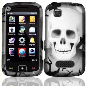 White Cross Skull Design Hard Case Cover for Motorola
