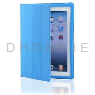New iPad 3 Fullbody Smart Cover Slim Magnetic PU Leather Case Stand