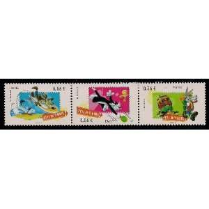 Looney Tunes Sylvester Tweety Bugs Bunny 3 France Stamp
