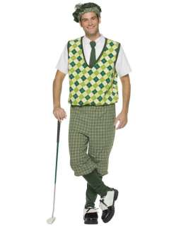 old tyme golfer golf player large adult halloween costume uniform