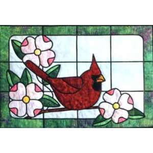 Stained Glass Pattern :: Cardinal Stained Glass
