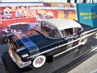 18 Scale Ertl American Graffiti Onyx Black 1958 Chevrolet Impala SKU