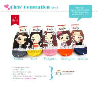 Girls Generation SNSD (Ver.2)   5 Pairs Of Women Socks