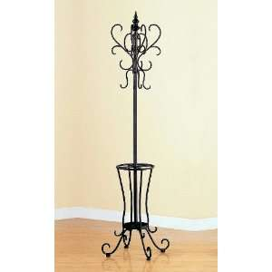 Traditional Metal Entryway Hall Tree Coat Rack With
