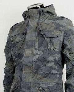 AK MILITARY M 65 HOODED ARMY CAMO FIELD JACKET STYLE COAT CAMO.sz.M