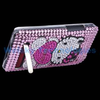 Kitty Bling Rhinestone Crystal Case Cover For HTC EVO 4G EA297