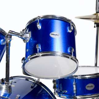 NEW 5 PIECE COMPLETE DRUM SET +CYMBAL+STOOL ~BLUE