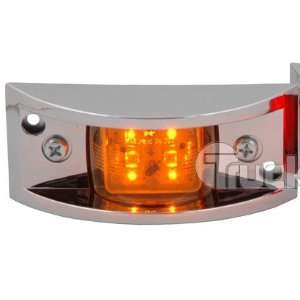 Truck Lite LED Clearance & Marker Lamps with Chrome Bezel Yellow Lamp