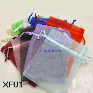 50pcs LARGE SIZE Mixed Organza wedding jewelry favor gift pouch bags 3