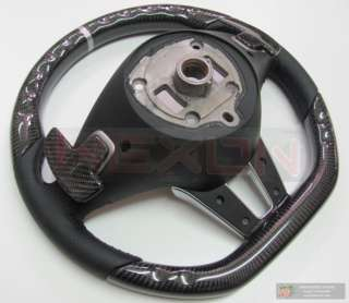 Mercedes SLS63 AMG Custom Carbon Silver Ring Steering Wheel+Carbon