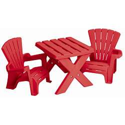 American Plastic Toys Childrens Plastic Table and Chairs Set
