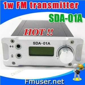 SDA 01A 1W FM PLL radio broadcast transmitter PC Control+antenna KIT