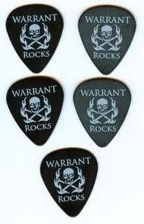 WARRANT Official Limited Edition 5 Black Warrant Rocks Skull Guitar