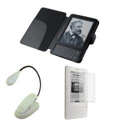 Deluxe  Kindle Leather Case/ Screen Protector/ LED Light
