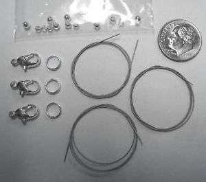 21 Pc bracelet bead stringing kit 3 brac anklets KIT001