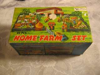 HOME FARM SET VINTAGE PLASTIC TOY IN BOX FARMING