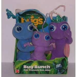 Disney PIXAR A Bugs Life Bug Bunch plush 3 pack Flik
