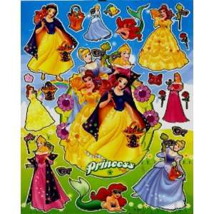 Disney Princesses STICKER SHEET ~ Snow White Cinderella