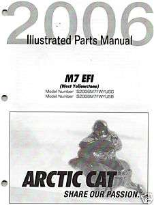 2006 ARCTIC CAT SNOWMOBILE M7 EFI PARTS MANUAL