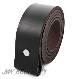 MENS Black Genuine Leather Belt Change Buckles vr000