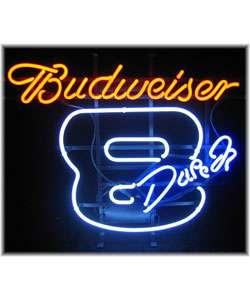 Budweiser Number 8 Dale Earnhardt Jr. Neon Bar Sign