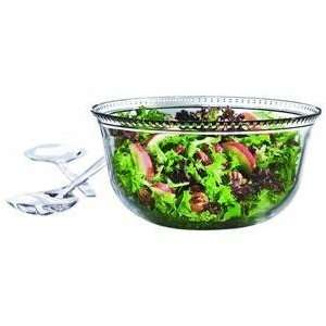 Anchor Hocking Olivia 3 Piece Salad Bowl Set with Serving