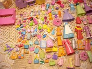 PC. POLLY POCKET CLOTHES HOTEL RANCH HOUSES PLAY SETS PLUS ACCESSORIES