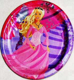 BARBIE Large PLATES ~ Perennial Princess Birthday Party Supplies