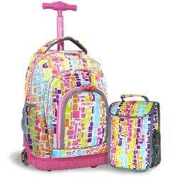 World Lollipop 16 inch Kids Rolling Backpack/Lunch Bag