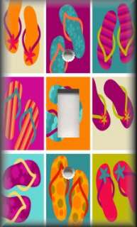 Light Switch Plate Cover   Beach Decor   Collage Of Flip Flops