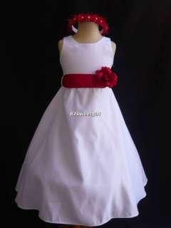 KM WHITE WEDDING BRIDAL FLOWER GIRL DRESS 1 2 6 8 10 12 14