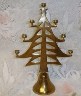 Vintage Solid Brass Christmas Tree Candelabra
