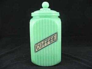 JADE 2 PIECE COFFEE CANISTER