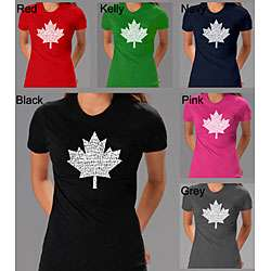 Los Angeles Pop Art Womens O Canada T shirt