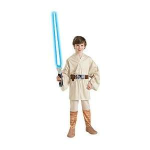 Kids Star Wars Luke Skywalker Costume   Child Medium Toys