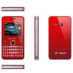 dr. Tech IP88 Dual SIM Unlocked Red Cell Phone